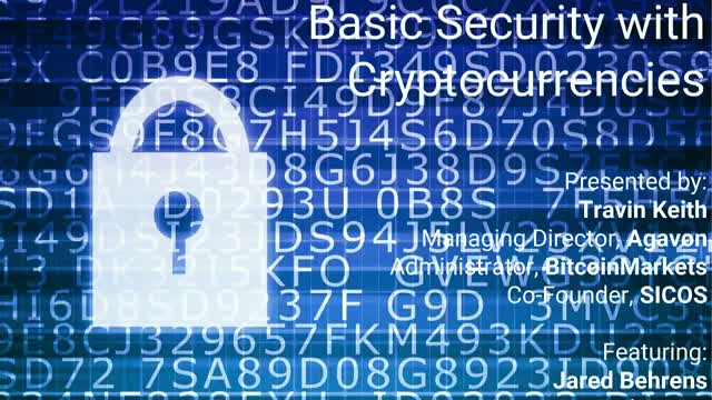 Basic Security with Cryptocurrencies