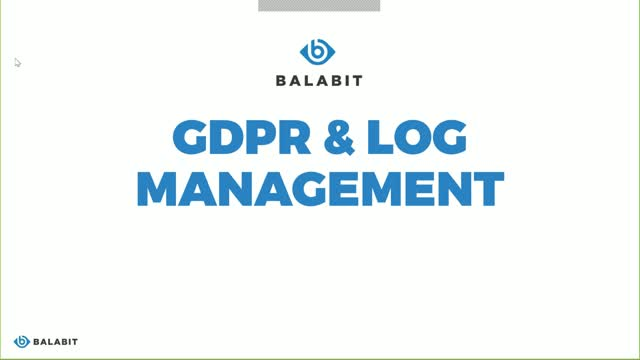Make your logging infrastructure GDPR compliant - On Demand Webinar