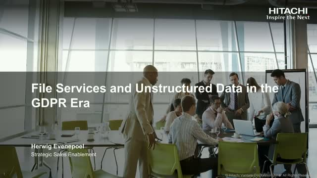 File Services and Unstructured Data in the GDPR Era