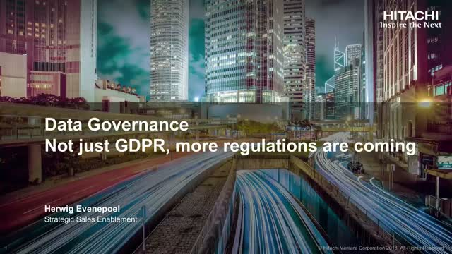 Not just GDPR, more regulations are coming
