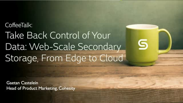 How to Take Back Control of Your Data with Web-Scale Secondary Storage
