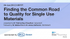 Finding the Common Road to Quality for Single Use Materials