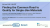 FINDING THE COMMON ROAD TO QUALITY FOR SINGLE-USE MATERIALS