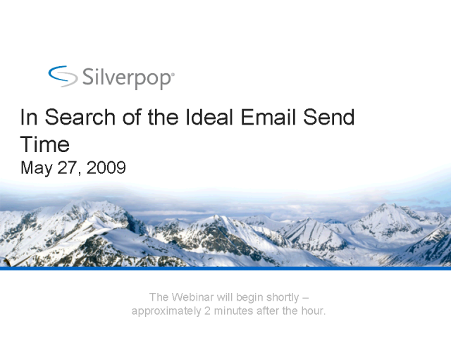 In Search of the Ideal Email Send Time