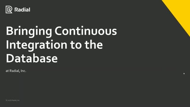 Bringing Continuous Integration to the Database
