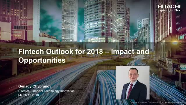 Fintech Outlook for 2018 – Impact and Opportunities
