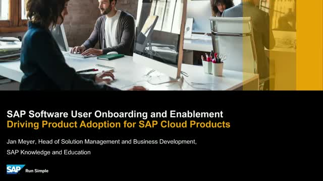SAP Software User Onboarding and Enablement – Overview Session