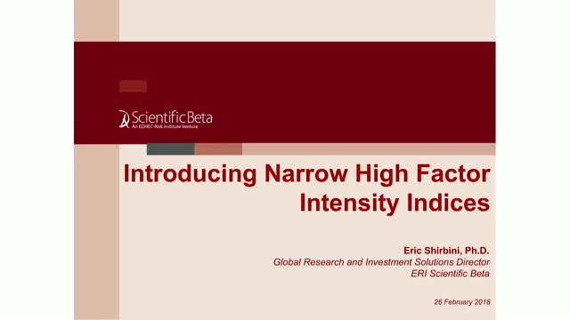 Introducing Narrow High Factor Intensity Indices