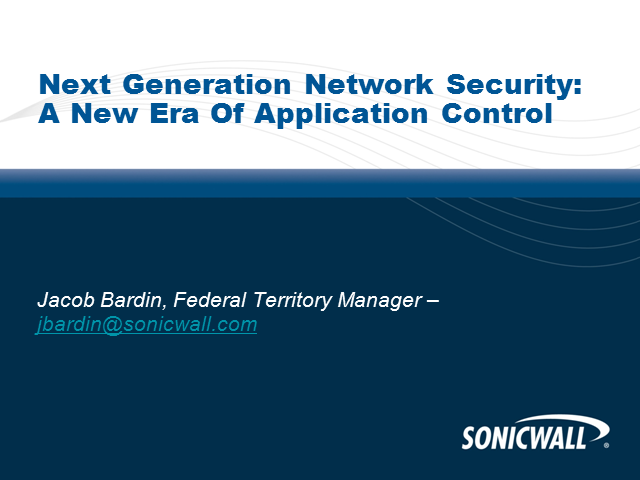 Next-Gen Firewalls for Federal Agencies:Enabling App Intelligence