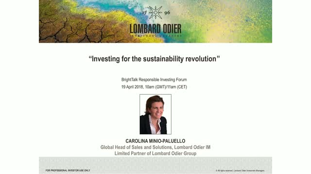 Investing for the Sustainability Revolution