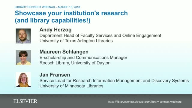 Showcase your institution's research (and library capabilities!)