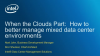 When the Clouds Part: How to manage mixed data center environments