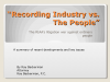 Recording Industry vs. The People (CLE Credit Pending)