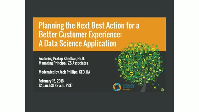 Planning the Next Best Action for a Better Customer Experience with Data Science