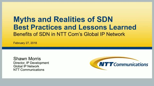 Myths and Realities of SDN –An expert's insights and best practices
