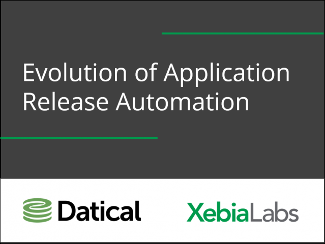 Application Development: The Evolution of Application Release Automation