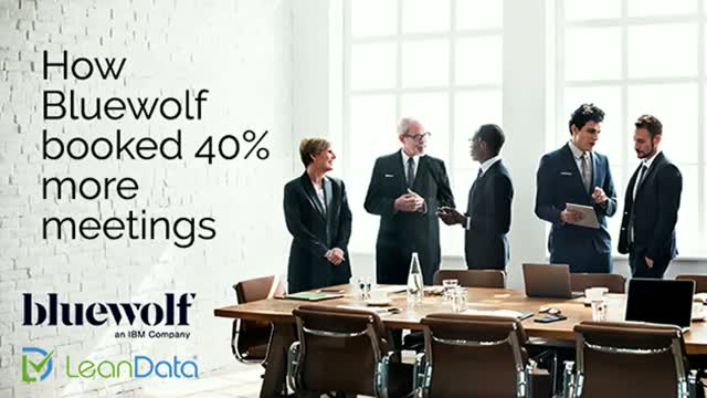 How Bluewolf booked 40% more meetings