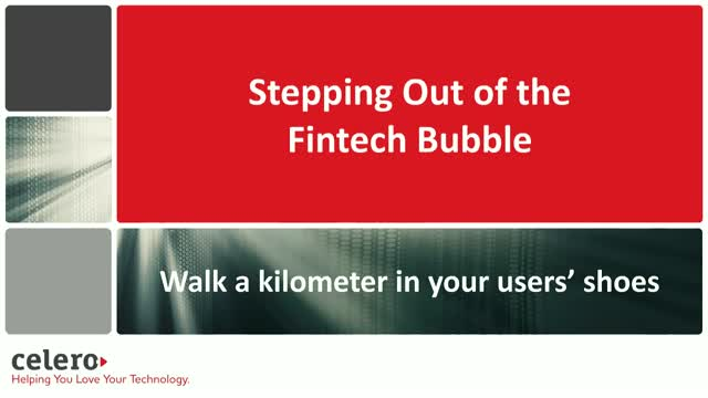 Stepping Out of the Fintech Bubble