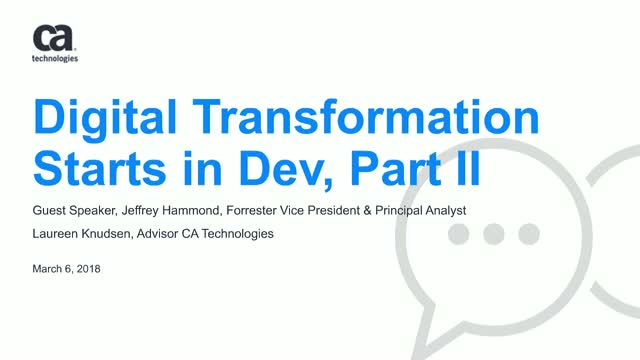 Analyst's View for CXOs on Dev Transformation