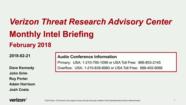 Verizon Threat Research Advisory Center - Cryptocurrency Attacks