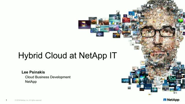 Our journey to the cloud: NetApp on NetApp
