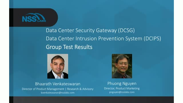 Data Center Security - Group Test Results