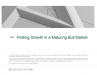 Finding Growth in a Maturing Bull Market