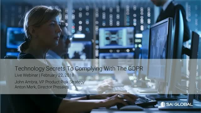 Technology Secrets to Complying with the GDPR
