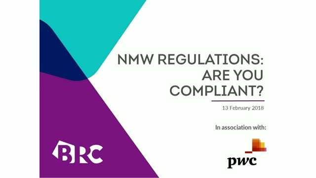 BRC & PwC Webinar: National Minimum Wage Regulations: Are You Compliant?