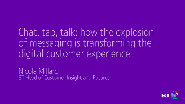 Chat, tap, talk: how messaging is transforming the digital customer experience.