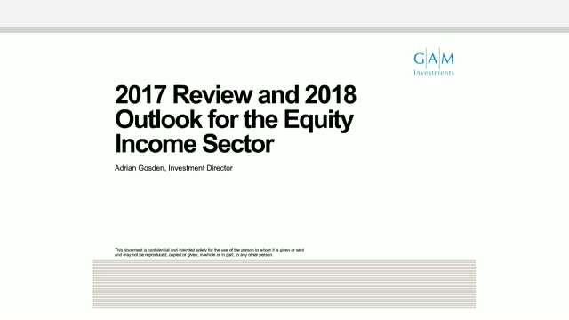 2017 Review & Outlook for 2018 Equity Income Sector