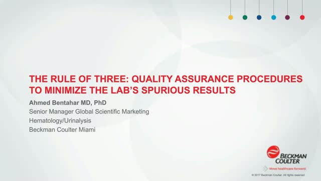 Quality Assurance Procedures to Minimize the Lab's Spurious Results
