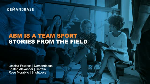 ABM is a Team Sport: Stories from the Field