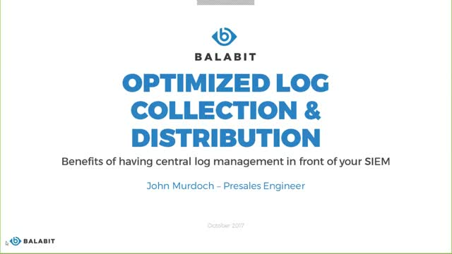 Optimized Log collection and distribution