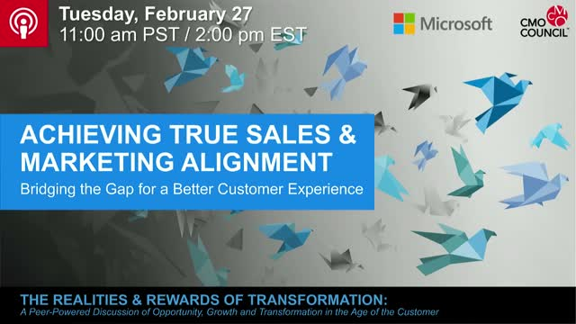 Achieving True Sales and Marketing Alignment