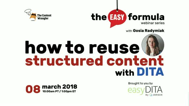 How to Reuse Structured Content with DITA