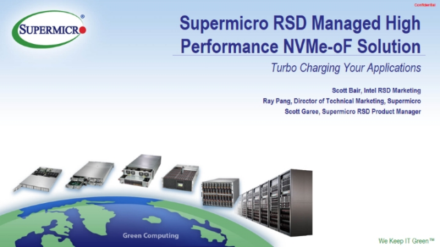 Supermicro Turbo Charges Solutions with NVMe Over Fabrics & Intel®