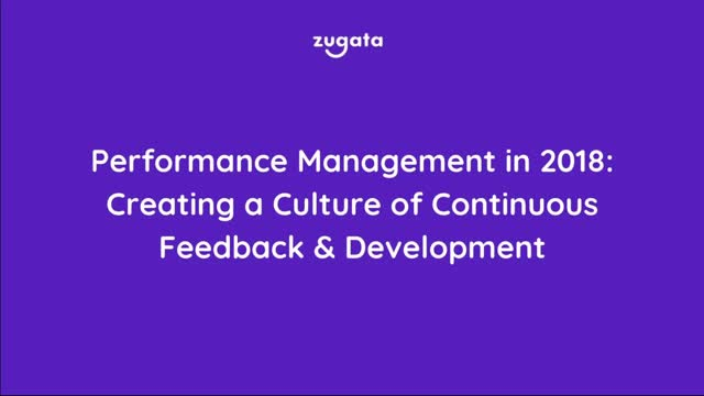 Creating a Culture of Continuous Feedback & Develepment