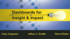 Dashboards for insight and impact