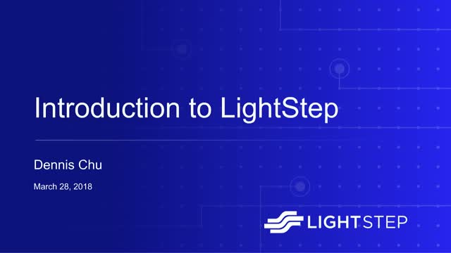 Introduction to LightStep [x]PM