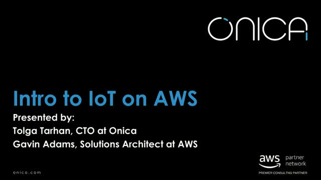 Intro to IoT on Amazon Web Services