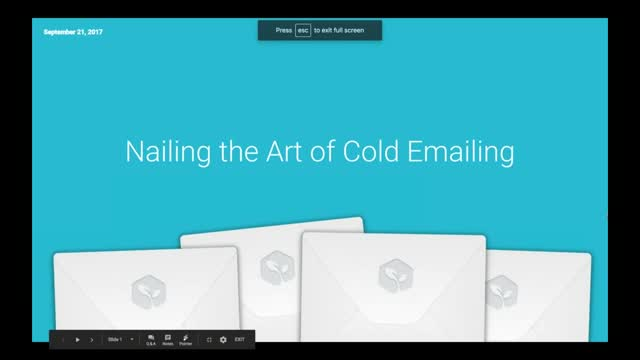 Nailing the Art of Cold Emailing