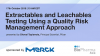 Extractables and leachables testing using a Quality Risk Management approach
