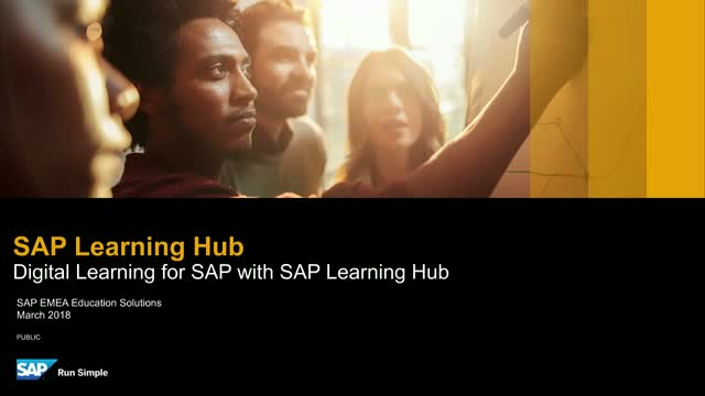 Digital Learning for SAP with SAP Learning Hub