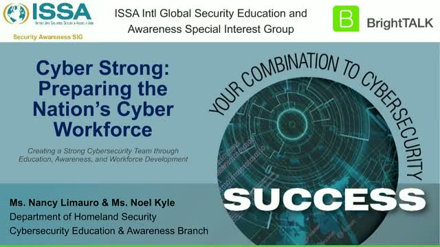 CPE Webinar - Cyber Strong: Preparing the Nation's Cyber Workforce