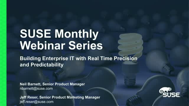 Building Enterprise IT with Real Time Precision and Predictability