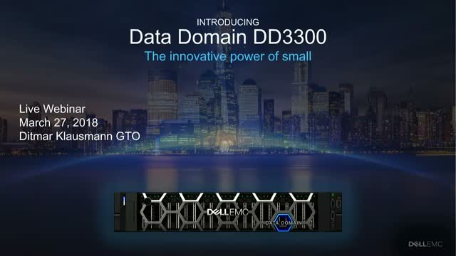 Introducing new entry-level Data Domain: Meet the Innovative Power of Small