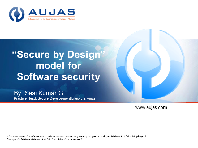 "Using the ""Secure by Design"" model for Software security"