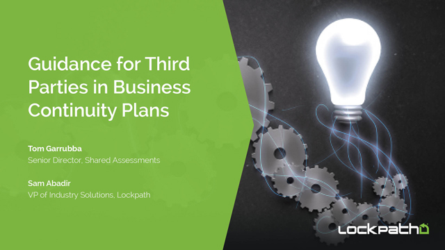 Guidance for Third Parties in Business Continuity Plans