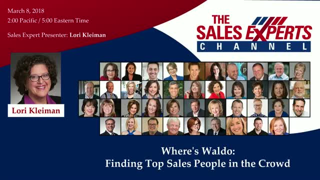 Where's Waldo: Finding Top Sales People in the Crowd